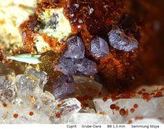 Cuprit    Clara Mine, Rankach valley, Oberwolfach, Wolfach, Black Forest, Baden-Württemberg, Germany Copyright © Stoya