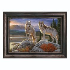 Bring a touch of the wilderness into your space with this framed canvas wall art from Reflective Art. <ul> <li>Outdoor theme lends natural charm.</li> <li>Attached sawtooth hook makes display simple. PRODUCT DETAILS</li> <li>16''H x 20''W x 2''D (overall)</li> <li>Canvas: 12''H x 18''W x 0.75''D</li> <li>Horizontal display</li> <li>Canvas, wood&l