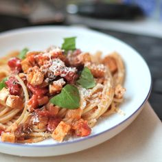 ... Ratatouille Pasta with eggplant (aubergine) even meat lovers will like