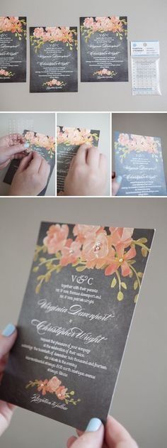 Simple DIY Wedding Invitations / http://www.himisspuff.com/diy-wedding-invitations/23/
