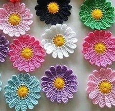 Craft a Handmade Birthday Card Vintage Crochet Patterns, Crochet Flower Patterns, Crochet Designs, Crochet Flowers, Crochet Bedspread Pattern, Crochet Motif, Crochet Stitches, Crochet Daisy, Irish Crochet