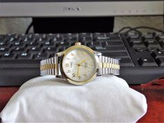 Timex Indiglo Mother of Pearl Dial W. Ladies Watch w/ St. Timex Indiglo, Timex Expedition, Michael Kors Watch, Watches, Steel, Pearls, Band, Luxury, Sash