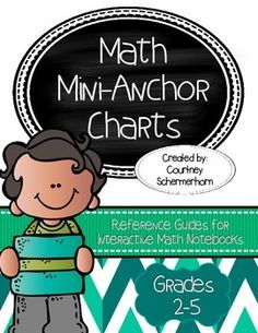 {UPDATED 6/2015 - NEW CHARTS ADDED!} Reference guides will be at your students' fingertips with these mini-anchor charts in their interactive math folders!  Include as many or as few as you'd like in students' folders, depending on individual needs.  The charts are appropriate for grades 2-5 and can be used in enrichment or intervention groups, and are also perfect for special education accommodations!