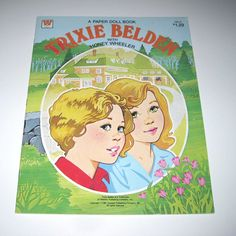 Vintage 1980s Trixie Belden with Honey Wheeler Paper Doll Book for Children by Whitman. $11.95, via Etsy.