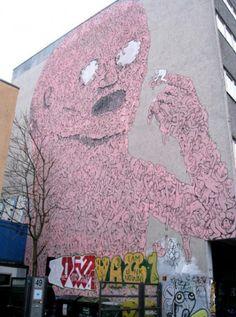 Backjump Mural – By Blu    Spotted – Kreuzberg, Falckensteinstraße