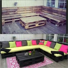 50 ideas for pallet DIY furniture to use in your home. Personalize any of the ideas by painting the pallet to fit your style. I Home Decor Palette Deco, Palette Design, Pallet Crafts, Diy Crafts, Dyi Pallet Projects, Palette Projects, Diy Backyard Projects, Outdoor Pallet Projects, Wood Crafts