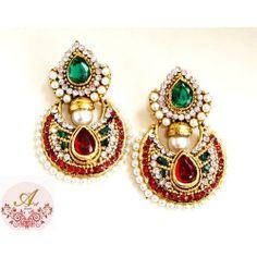 polki designer earrings