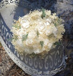 Wedding Bouquet Peony Bouquet Sola Bouquet by CountryWesternBlooms