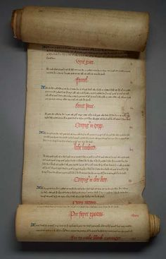 "The oldest cookbook written in English, The Forme of Cury–""cury"" being a Middle English word for cooking.  The document is believed to be compiled in 1390 by the master cooks of King Richard the II."