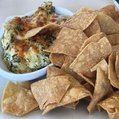 """""""Spinach artichoke dip from the Cove Bar  Photo: @tattooeddisneygirl Use #FoodsofDisneyland for a chance to have your photo featured!"""""""