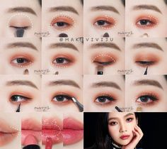 Gorgeous Makeup: Tips and Tricks With Eye Makeup and Eyeshadow – Makeup Design Ideas Korean Makeup Tips, Korean Makeup Look, Korean Makeup Tutorials, Ulzzang Makeup Tutorial, Korean Makeup Ulzzang, Cosplay Makeup Tutorial, Korean Natural Makeup, Asian Eye Makeup, Korean Beauty