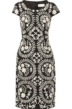 Embroidered silk dress by Mikael Aghal