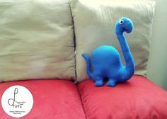 These handmade felt plush brachiosaurus make the best cuddle friends for your couch or bed! Adopt your own plush dinosaur from Luna's Toys on Etsy!~-~-~-~-~-~-~-~-~-~-~[Plush Dinosaurs, Plush Brachiosaurus, Plushie, Plushies, Stuffed Animal, Soft Toy, Juguete de Peluche, Peluza, Monito, Muñeco, Monitos, Muñecos, gift ideas, ideas de regalo, Dinosaurio, Braquiosaurio]