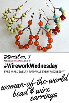 These wire wrapped earrings from @zbme are on of my favorites. #WireworkWednesday
