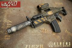 Modified Nerf Guns, Aliens Colonial Marines, Cool Nerf Guns, Nerf Darts, Sci Fi Games, Nerf Mod, Dinosaur Drawing, Zombie Hunter, Cosplay Weapons