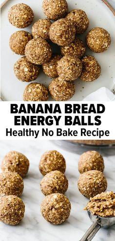 Healthy Banana Recipes, Banana Snacks, Healthy Sweets, Healthy Baking, Banana Recipes No Bake, Healthy No Bake, Healthy Banana Cookies, Good Healthy Snacks, Nutritious Snacks
