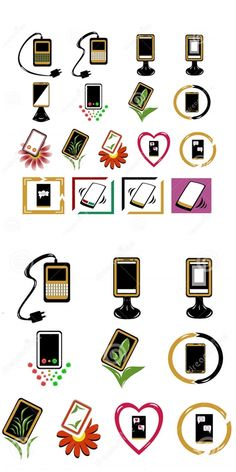 Illustration about Set of different phone icons. Illustration of business, advertising, concept - 68232050 Phone Icon, Icon Set, Illustration Art, Playing Cards, Advertising, Symbols, Vectors, Logo, Business