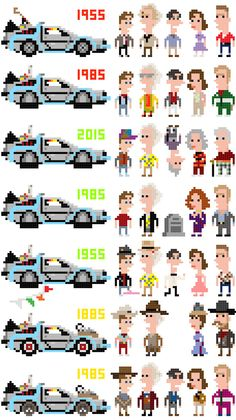 Back to the Future Cross-Stitch Iotacons