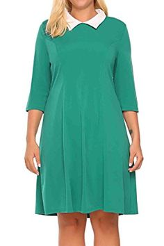 Women Plus Size 1950s Vintage Style Doll Collar 3/4 Sleev... https://www.amazon.com/dp/B073XLRGL6/ref=cm_sw_r_pi_dp_U_x_J7PyAbRP9G46V