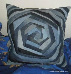 Very nice upcycled jeans pillow