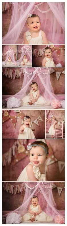 One year old picture ideas | First birthday pictures | Julie Pottorff Photography | Girls first birthday