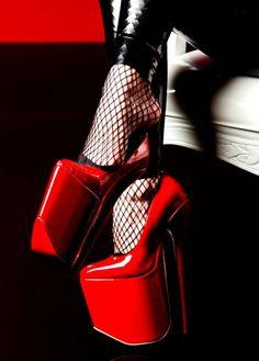 Sky High #red #heels