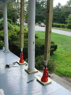 Life At Pugsley: Itu0027s Raining   Time To Replace Porch Column Bases