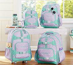 Kids' Backpacks, Personalized Backpacks & Book Bags | Pottery Barn Kids Mackenzie lavender Moroccan Geo