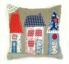 RobinsEggBlue: .....More Vintage Fabric House Pillows... INSPIRATION