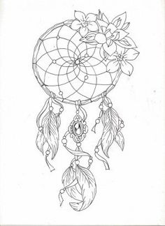 dreamcatcher 2 by on deviantART Dream Catcher Coloring Pages, Dream Catcher Drawing, Dream Catcher Tattoo Design, Horse Coloring Pages, Easy Coloring Pages, Pattern Coloring Pages, Doodle Coloring, Coloring Books, Drawings Of Dreamcatchers