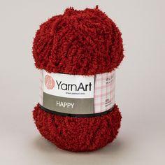 Pletací příze YarnArt HAPPY 685 červená, fantasy 100g/175m Knitted Hats, Fantasy, Knitting, Tricot, Breien, Stricken, Weaving, Fantasy Books, Knits