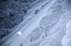 This picture might look more like a slice of marble, but it is actually floating ice captured from the Operation IceBridge aircraft