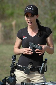 Lady competitor - Multi gun tactical shooting competition