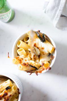 Mini Baked ZucchinI and Mozzarella Rigatoni