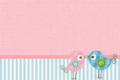 Fazendo a Minha Festa!: Passarinhos Azul e Rosa
