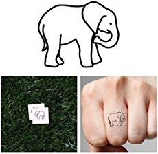 Small, pink and Indian and other Elephant Tattoo Designs, Ideas and Images with meaning. Best Elephant tattoos for on foot, hand, wrists or thighs.
