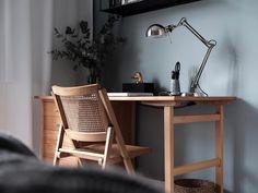 Home Office, Office Desk, Mauve, Upper Cabinets, Architecture, Modern, Furniture, Home Decor, Scandinavian