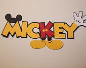 Mickey Page Title - make from your Cricut!