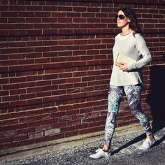 RetROE – Leggings // Axly // Fish eggs among seaweed in science fiction fashion. The Magic Schoolbus meets our 80's baby retro vibes. Take a dive into this fun design! Axly leggings are mid-rise and perfect for yoga or street style - athleisure wear at it's best. 82% polyester / 18% spandex. Made in USA.