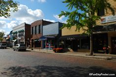 Main Street- This brick road is the heart of Zionsville, IN. The bricks are as old as the town's history itself. The dark bricks in the center lay in remembrance of the train tracks once stretched down the road.