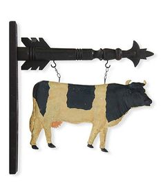 This Hanging Cow Arrow Sign is perfect! #zulilyfinds