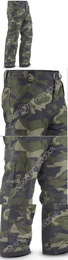 Snow Pants and Bibs 36261: Mens Insulated Waterproof Ski Snow Board Cargo Pants Camo Camouflage All Sizes! -> BUY IT NOW ONLY: $45.99 on eBay!