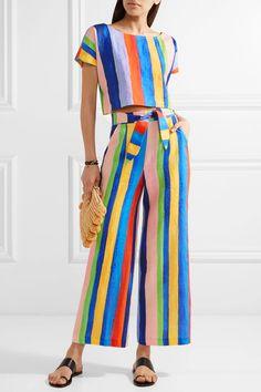 #stripedtop #stripetshirt #stripedcroptop #stripedcoordinates #widelegpants #widelegtrousers #stripedwidelegpants #stripedwidelegtrousers #wetpaintfabric