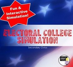 """The Electoral College Simulation Activity (Civics)  This is an engaging activity simulates a mock Presidential election. Students will be able to really """"see"""" how the Electoral College works and have fun in the process. All teacher preparation and student instructions are included. (This activity requires at least 8-10 dice which are NOT included)."""