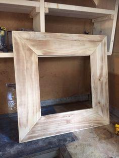 Raamwerk gemaakt van steigerhout.