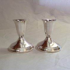 Raimond Sterling Weighted Candlesticks Mid Century Silver