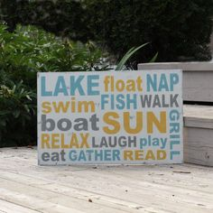 Lake House sign <3... Perfect for our future lake house!!! :)
