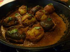 Enjoy Indian Food: Bharli Vangi (2) - Stuffed Eggplants