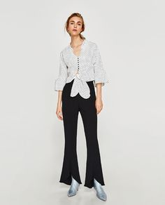 ZARA - WOMAN - TOP WITH BOW DETAIL