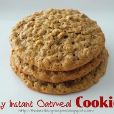 Easy Instant Oatmeal Cookies